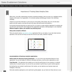 Sales Enablement Solutions: Importance of Tracking Sales Analytics Data