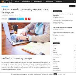L'importance du community manager dans l'entreprise