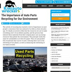 The Importance of Auto Parts Recycling for Our Environment -
