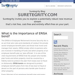 What is the Importance of ERISA bond? - Suretegrity