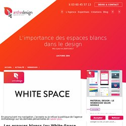 L'importance des espaces blancs dans le design