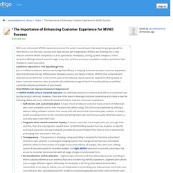 The Importance of Enhancing Customer Experience for MVNO Success