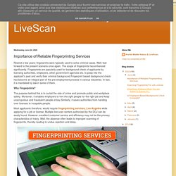 Importance of Reliable Fingerprinting Services