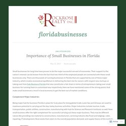 Importance of Small Businesses in Florida – floridabusinesses