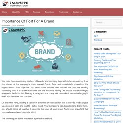 Importance Of Font For A Brand - 7Search PPC