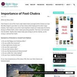 Importance of Foot Chakra