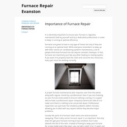 Importance of Furnace Repair