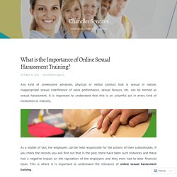 Are you Interested in Online Sexual Harassment Training?