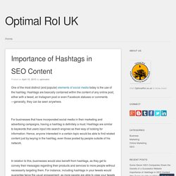 Importance of Hashtags in SEO Content