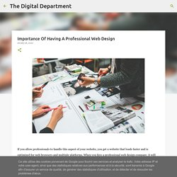 Importance Of Having A Professional Web Design