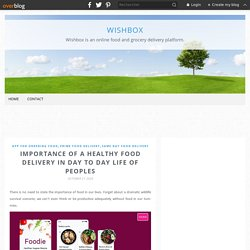 Importance of a Healthy Food Delivery in Day to Day Life of Peoples - wishbox