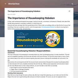 The Importance of Housekeeping Hoboken