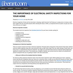 THE IMPORTANCE OF ELECTRICAL SAFETY INSPECTIONS FOR YOUR HOME