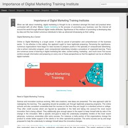 Digital Marketing Training Institutes - Introduction