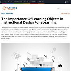 The Importance Of Learning Objects In Instructional Design For eLearning