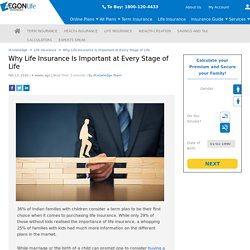 Importance of Life Insurance: Why Life Insurance Is Important at Every Stage of Life - Aegon Life