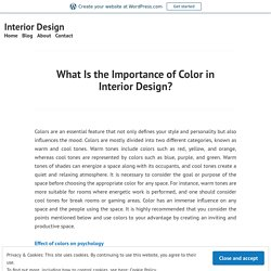 What Is the Importance of Color in Interior Design? – Interior Design