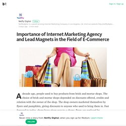 Importance of Internet Marketing Agency and Lead Magnets in the Field of E-Commerce