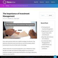 The Importance of Investment Management