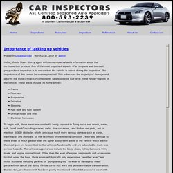 » Importance of jacking up vehicles