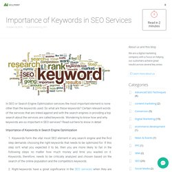 Importance of Keywords in SEO Services