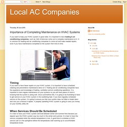 Importance of Completing Maintenance on HVAC Systems