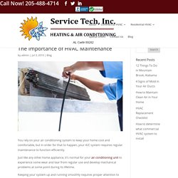 The Importance of HVAC Maintenance - Service Tech HVAC