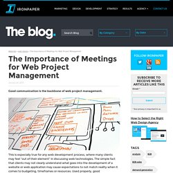 The Importance of Meetings for Web Project Management - WebIntel by Ironpaper