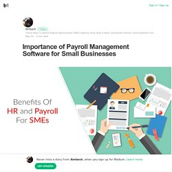 Importance of Payroll Management Software for Small Businesses