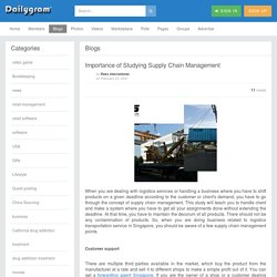 Importance of Studying Supply Chain Management » Dailygram ... The Business Network