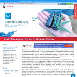 The Importance of Quality Management Software for Cannabis Industry