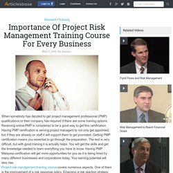 Importance Of Project Risk Management Training Course For Every Business