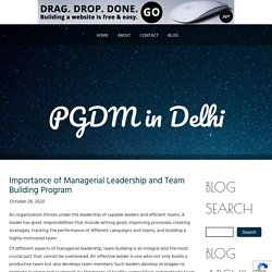 Managerial Leadership and Team Building