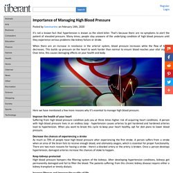 Importance of Managing High Blood Pressure
