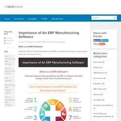 Importance of An ERP Manufacturing Software