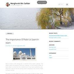 The Importance Of Rabi Us Saani In Islam