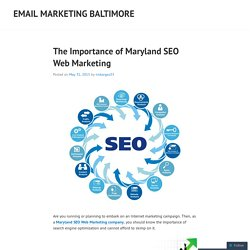 The Importance of Maryland SEO Web Marketing