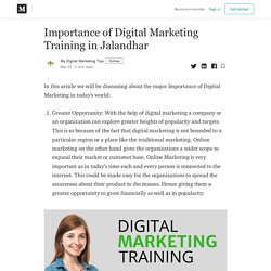 Importance of Digital Marketing Training in Jalandhar