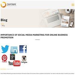 Importance Of Social Media Marketing For Online Business Promotion