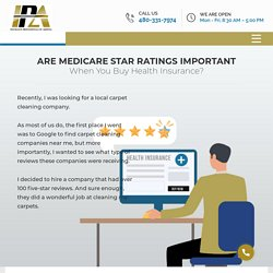 The Importance of Medicare Star Ratings