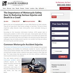 Importance of Motorcycle Safety Gear In Reducing Serious Injuries and Death In a Crash