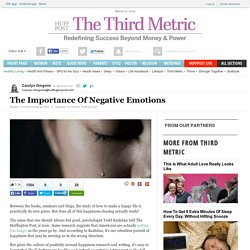 The Importance Of Negative Emotions
