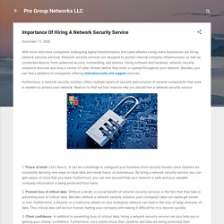 Importance Of Hiring A Network Security Service