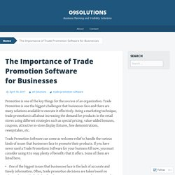 The Importance of Trade Promotion Software for Businesses