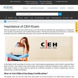 Importance of CEH Exam