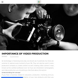 Importance of video production