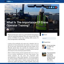Crane Licence Brisbane by Emerald Training