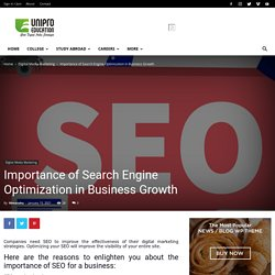 Importance of Search Engine Optimization in Business Growth