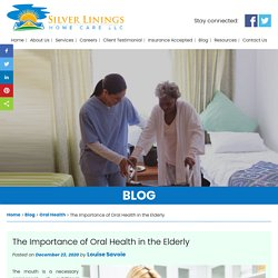 The Importance of Oral Health in the Elderly