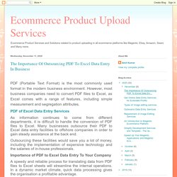 The Importance Of Outsourcing PDF To Excel Data Entry In Business